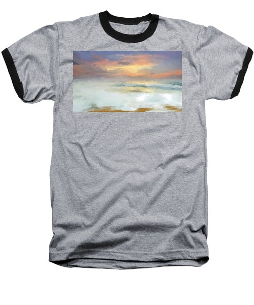 Pastel Beach Mornning Baseball T-Shirt