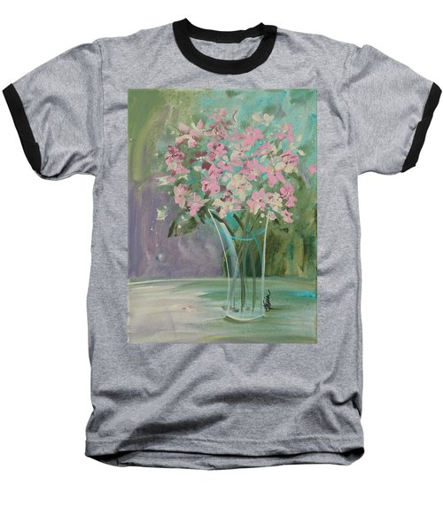 Pastel Blooms Baseball T-Shirt by Terri Einer