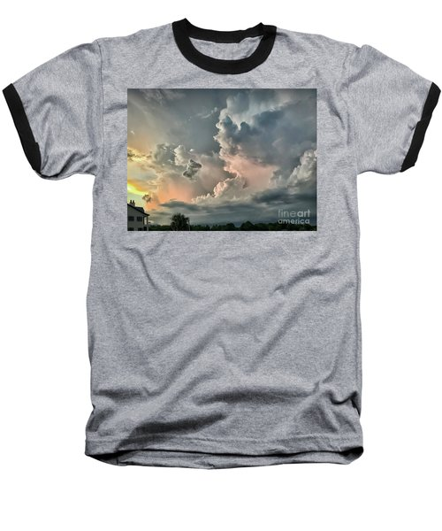 Pastel Clouds Baseball T-Shirt by Walt Foegelle