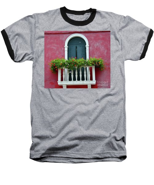 Pastel Colors Of Burano  Baseball T-Shirt