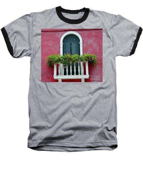 Pastel Colors Of Burano  Baseball T-Shirt