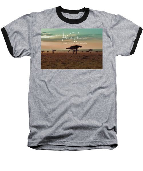 Baseball T-Shirt featuring the photograph Pastel Dawn On The Mara by Karen Lewis