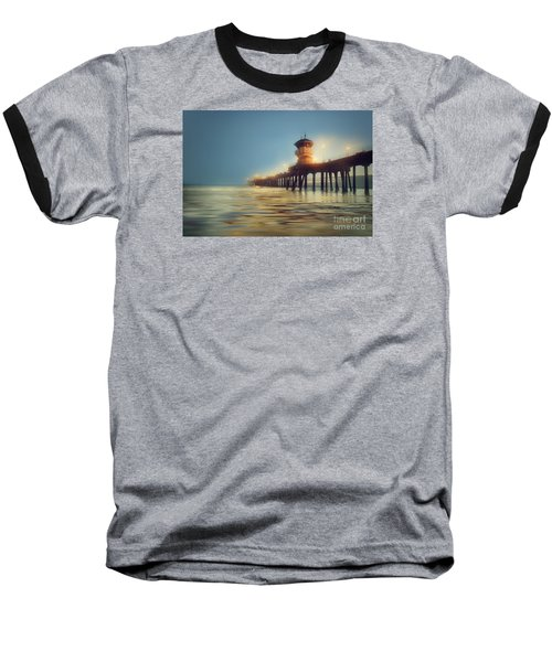 Pastel Evening At Huntington Beach Pier Baseball T-Shirt
