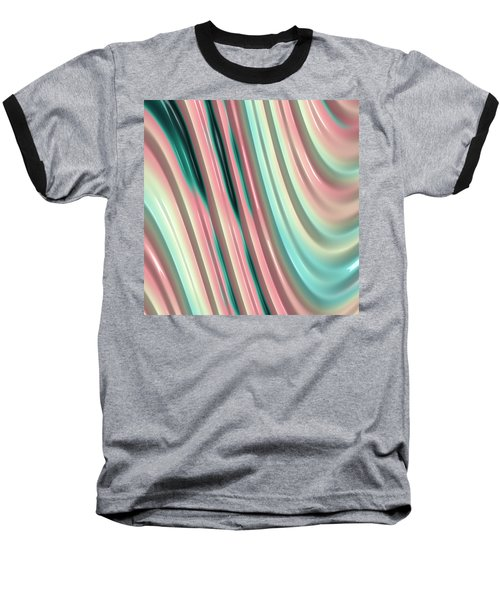 Baseball T-Shirt featuring the photograph Pastel Fractal 2 by Bonnie Bruno
