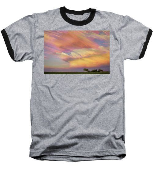 Baseball T-Shirt featuring the photograph Pastel Painted Big Country Sky by James BO Insogna