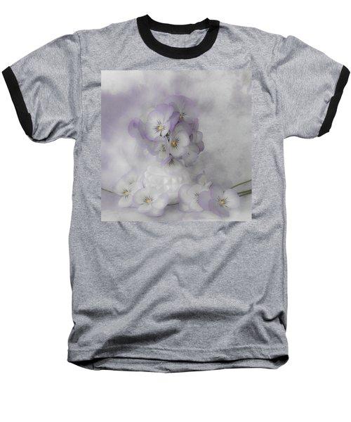 Pastel Pansies Still Life Baseball T-Shirt by Sandra Foster