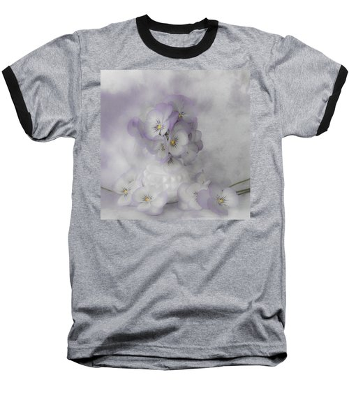 Pastel Pansies Still Life Baseball T-Shirt