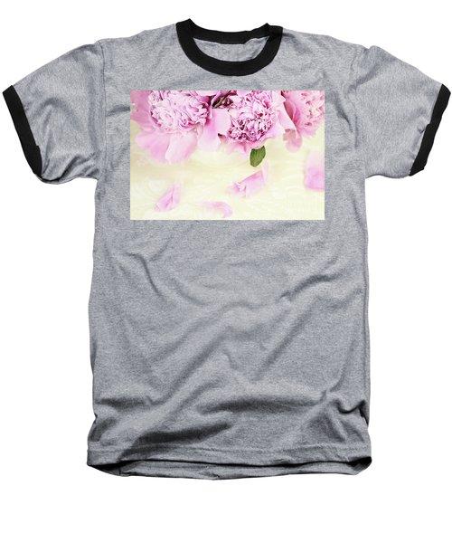 Pastel Pink Peonies  Baseball T-Shirt
