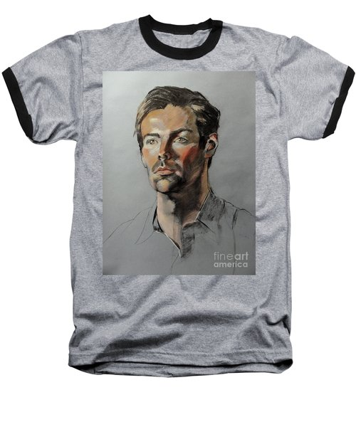 Pastel Portrait Of Handsome Guy Baseball T-Shirt