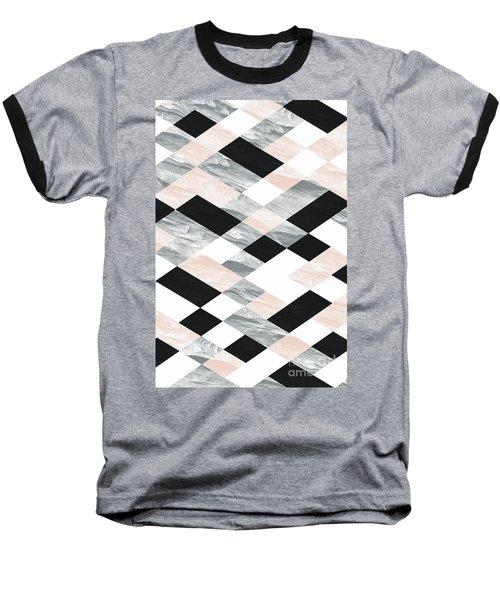 Pastel Scheme Geometry Baseball T-Shirt