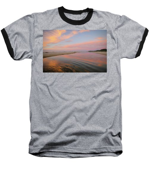 Pastel Skies And Beach Lagoon Reflections Baseball T-Shirt