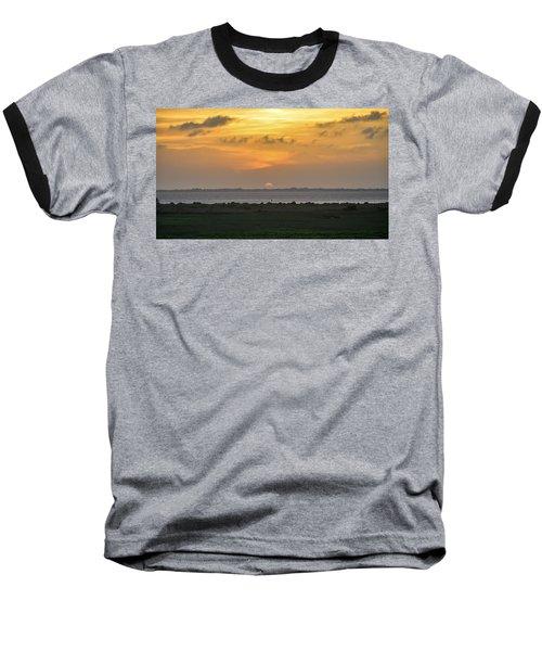 Pastel Sky Baseball T-Shirt by Debra Martz