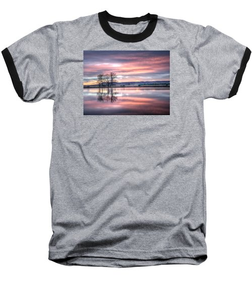Pastel Sunrise Baseball T-Shirt by Fiskr Larsen