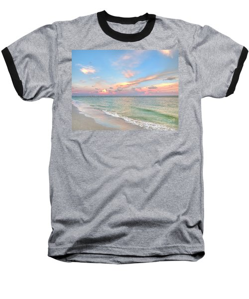 Pastel Sunset On Sanibel Island Baseball T-Shirt