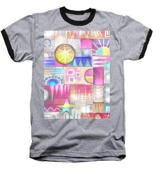 Pastel Symmetry Baseball T-Shirt