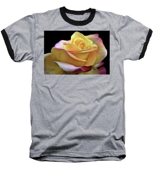 Pastel Yellow Rose Canvas Proofed Baseball T-Shirt