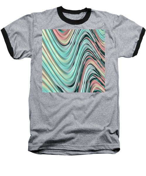 Baseball T-Shirt featuring the digital art Pastel Zigzag by Bonnie Bruno