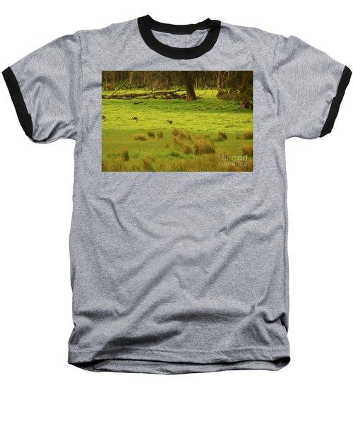 Pasture In Boranup Baseball T-Shirt by Cassandra Buckley
