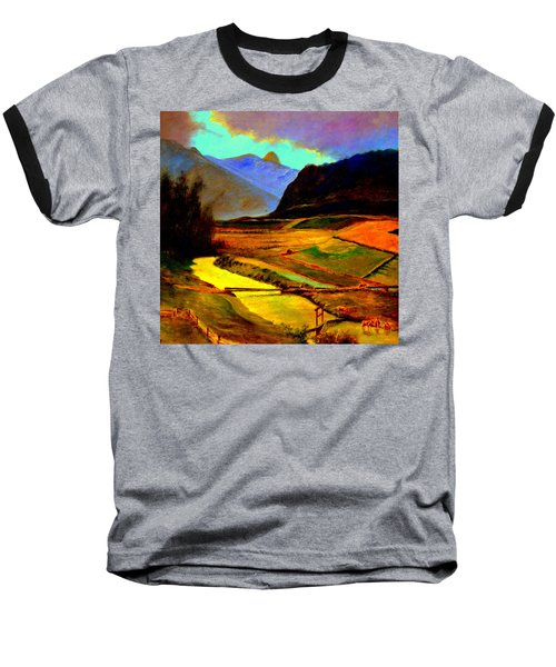 Pasture In The Mountains Baseball T-Shirt