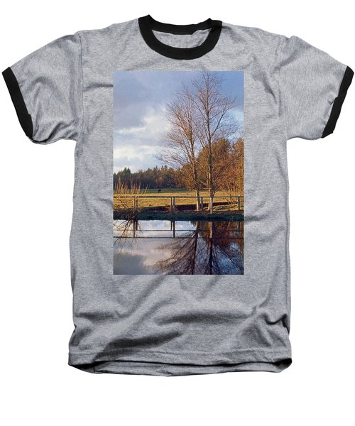 Baseball T-Shirt featuring the photograph Pasture Pond by Laurie Stewart