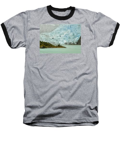 Baseball T-Shirt featuring the photograph Patagonia Glacier by Alan Toepfer