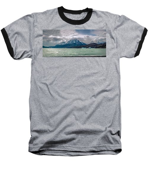 Baseball T-Shirt featuring the photograph Patagonia Lake by Andrew Matwijec