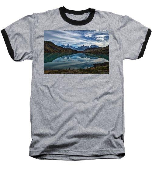 Patagonia Lake Reflection - Chile Baseball T-Shirt