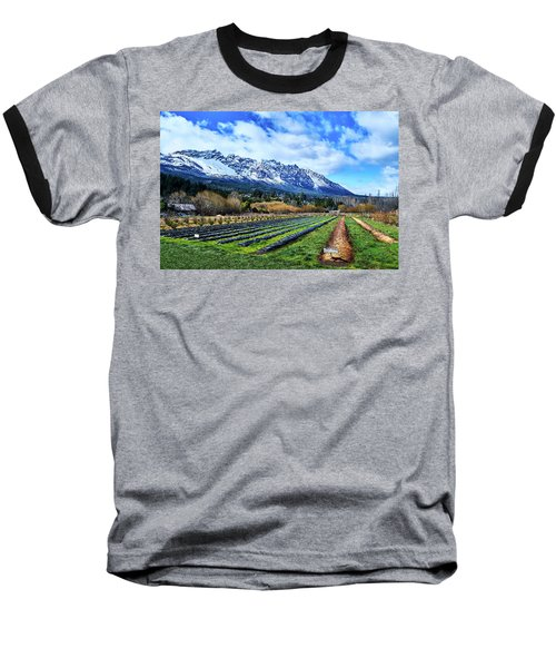 Landscape With Mountains And Farmlands In The Argentine Patagonia Baseball T-Shirt