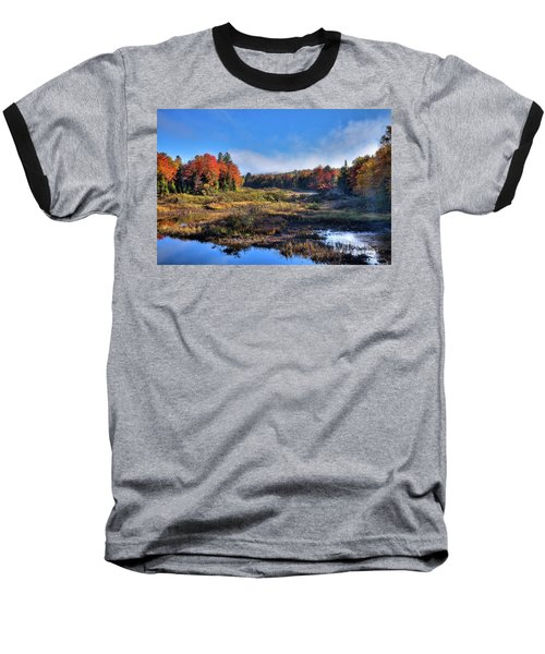 Baseball T-Shirt featuring the photograph Patches Of Fog At The Green Bridge by David Patterson
