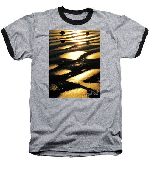 Patchwork Daytona Beach And Seagulls Baseball T-Shirt
