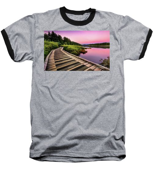 Path By The Lake Baseball T-Shirt by Rod Jellison