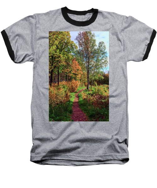 path in a beautiful country Park on a Sunny autumn day Baseball T-Shirt