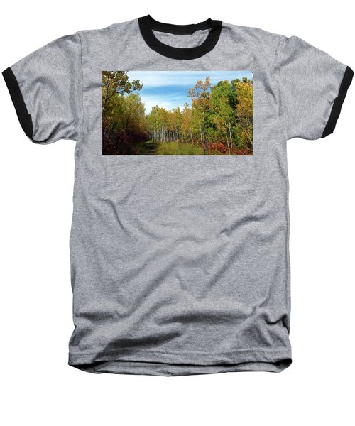 Path In The Woods 7 Baseball T-Shirt