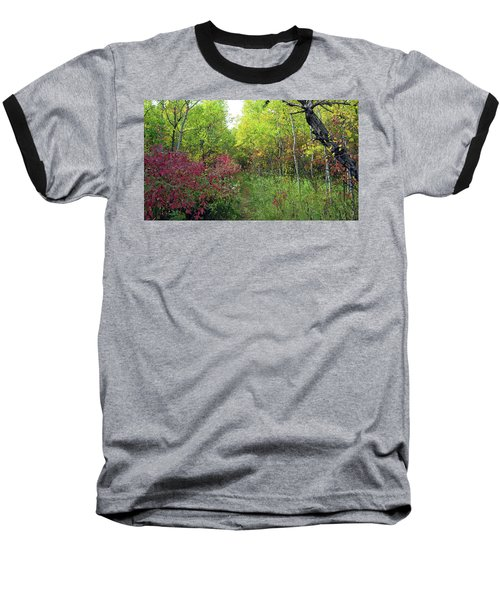 Path In The Woods 8 Baseball T-Shirt