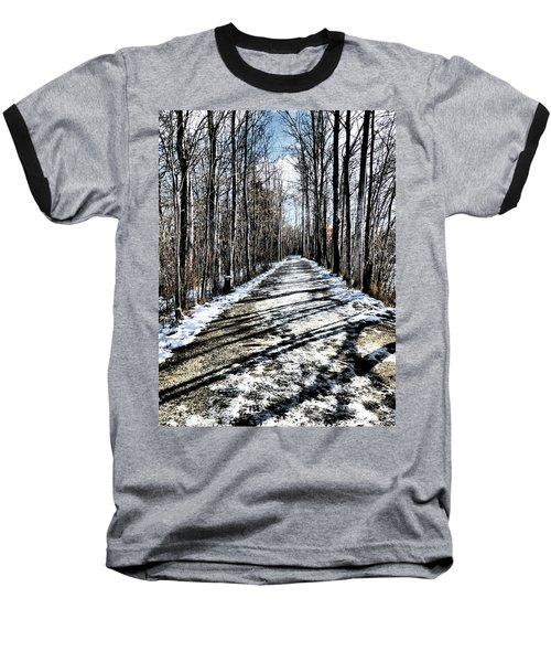 Path In Winter Baseball T-Shirt
