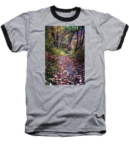 Path Of Leaves Baseball T-Shirt