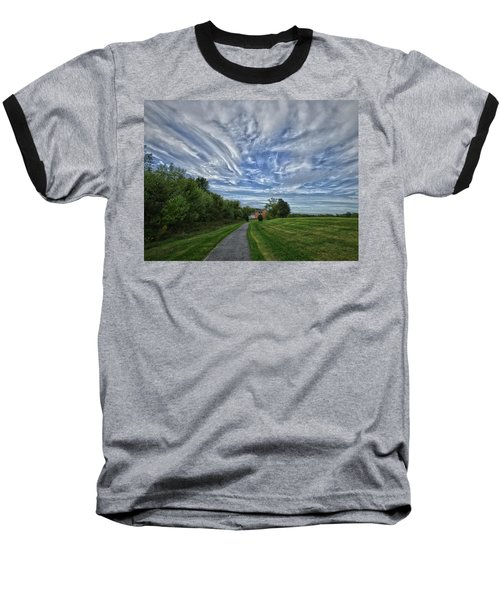 Baseball T-Shirt featuring the photograph Path by Robert Geary