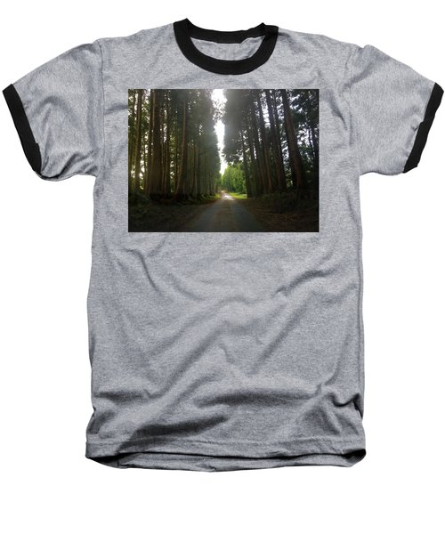 Path Through The Woods Baseball T-Shirt