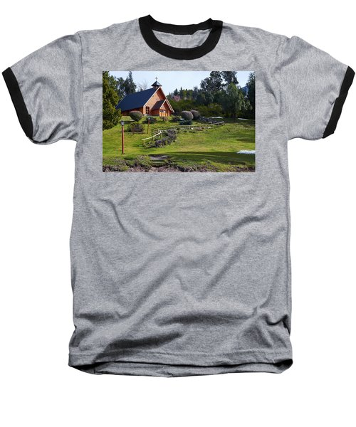 Rustic Church Surrounded By Trees In The Argentine Patagonia Baseball T-Shirt