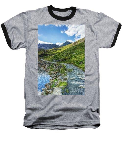 Path To Snowdon Baseball T-Shirt by Ian Mitchell