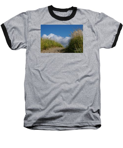 Path To The Beach Baseball T-Shirt by Jeanette French