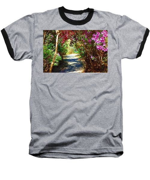 Baseball T-Shirt featuring the digital art Path To The Gardens by Donna Bentley