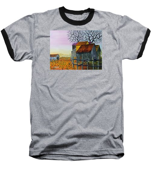 Path To The Past Baseball T-Shirt by Jack G Brauer