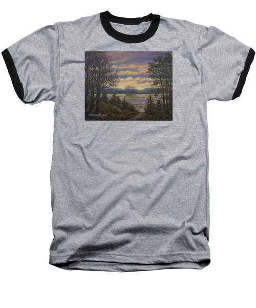 Path To The River Baseball T-Shirt by Kathleen McDermott
