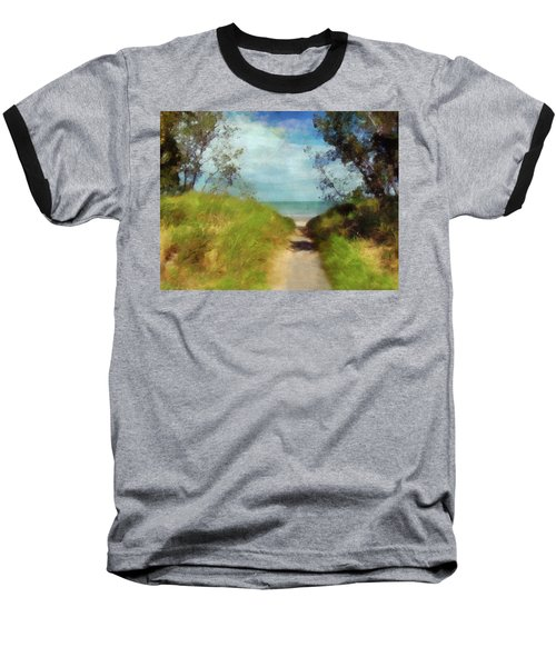 Path To Whihala Beach 2 Baseball T-Shirt by Cedric Hampton