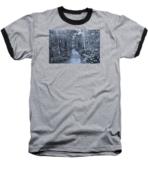 Path Trough The Blue Wood Baseball T-Shirt