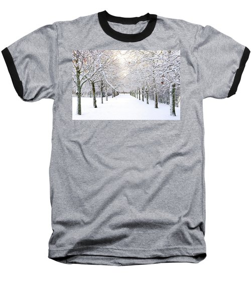 Pathway In Snow Baseball T-Shirt
