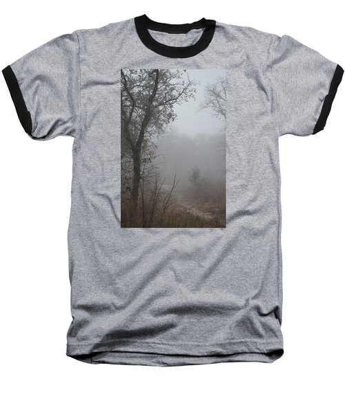 Baseball T-Shirt featuring the photograph Pathway In The Fogs Of Life by Carolina Liechtenstein