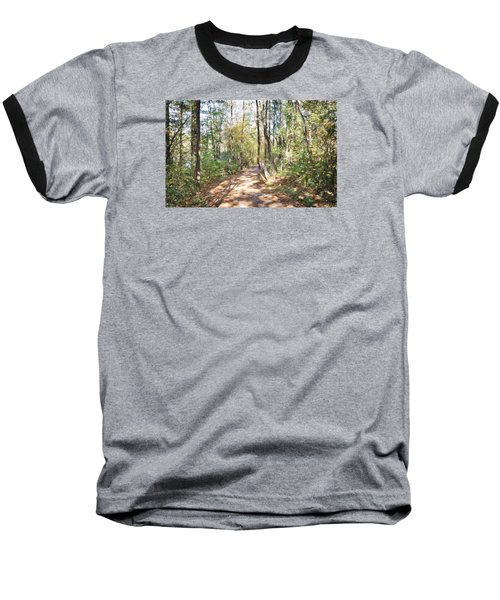 Pathway In The Woods Baseball T-Shirt