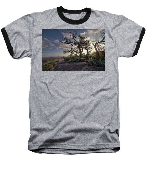 Pathway On Top Of Enchanted Rock Baseball T-Shirt